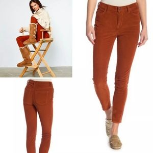 Free People High Waist Pant Fire Chestnut